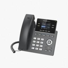"""Teléfono IP Grado Operador, 2 líneas SIP con 2 cuentas, pantalla a color 2.4"""", PoE, codec Opus, IPV4/IPV6 con gestión en la nube"""