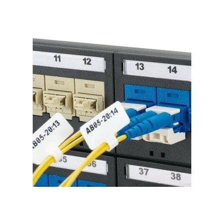 """Etiquetadora Poliéster de 1.0""""x1.50"""" (25.4mm x 38.1mm), diámetro de cable de 0.12""""-0.20"""" (3.1mm - 5.2mm)"""