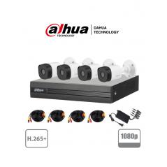 (1080p) Paquete Kit De 4 Camaras De Seguridad Paquete De Camaras De Seguridad Para Casa Cable, Camaras, Grabador (DVR) , Fuente
