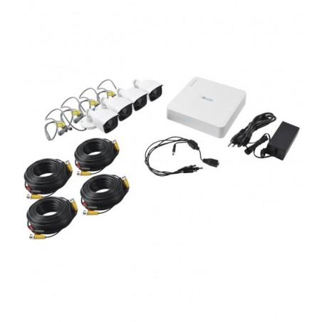 (1080p 2 Mpx) Paquete Kit De 4 Camaras De Seguridad Paquete De Camaras De Seguridad Para Casa Cable, Camaras, Grabador (DVR)