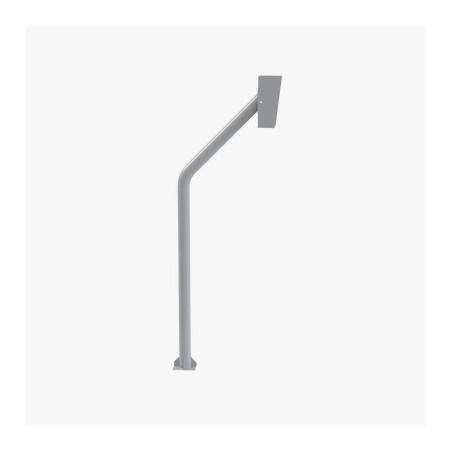 Base tipo tubular para instalación de Lectora RFID Base de piso para control de acceso pedestal para lectoras huella