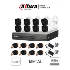 (1080p 2 mpx) Paquete Kit De 8 Camaras De Seguridad Paquete De Camaras De Seguridad Para Casa METALICAS, Camaras, Grabador (DVR)