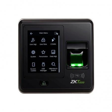 """Terminal Biométrica con Pantalla de 2.8"""" / Hasta 1,500 Huellas / IP Lector de huella Biometrico ZK Cuadrado con pantalla"""
