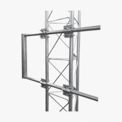 """Brazo Uso Rudo para Torre STZ Galvanizado Electrolítico de 170 x 60 cm Tubo 2"""" Ced 30 para Torre Arriostrada"""