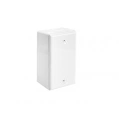 Caja universal Caja Chalupa plastica de PVC para canaleta con tapa blanca para caja universal Caja aparente con tapa