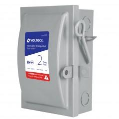 Interruptor De Seguridad 2 Polos, 30 A, Volteck 46020 Caja con palanca para la luz Caja de luz con palanca