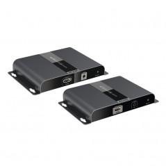 Sistema HIKVISION TURBOHD 720p / DVR 4 Canales / 4 Cámaras Bala (exterior 3.6 mm) / Transceptores / Conectores / Fuente