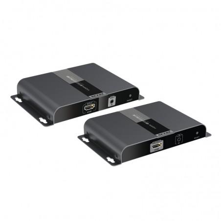 Kit de Camaras HIKVISION 4 cámaras Bullet BCA 720P/4 Duos de Transceptores Balum/4 Conectores de Energía Macho/1 Fuente de Poder