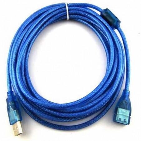 Cable USB de 3 Metros Extension de USB 3 mts Macho - Hembra Extensión de 3 Metros 2.0 para transmisión de Datos