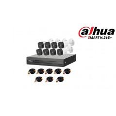 Kit HIKVISION 16 Cams 720P BCA Domo/1 Fuente Prof/16 Duos Transceptores/16 conectores Energía/1 DVR Turbo HD