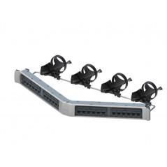 Cordón de parcheo RJ45-RJ45 UTP Cat6A 360 7ft gris Patch Cord 7ft GigaSPEED X10D 360GS10E Solid Cordage Modular Patch Cord