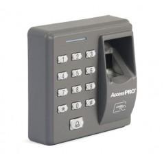 Lector de huella y proximidad con teclado autónomo, 500 huellas/500 tarjetas/8 passwords Control de Acceso