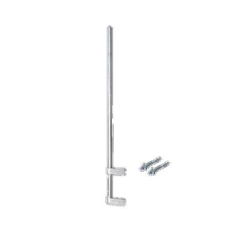 """Mástil Liviano de Pared de 1.5 m (Diam. 1-1/4"""") con Cejas de Fijación Soldadas, ¡No se gira! Incluye Taquetes para instalación."""