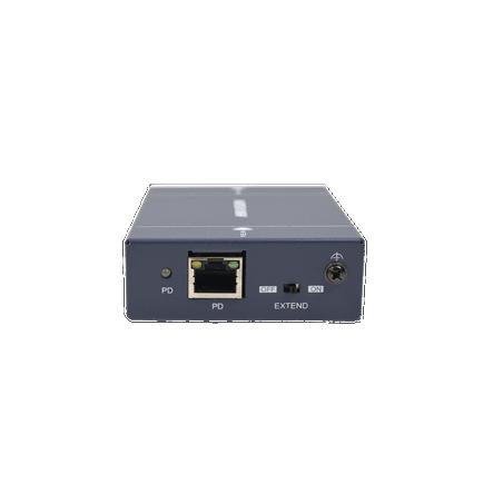 Extensor PoE 802.3af/at 100 mts de 1 puerto 10/100 Mbps con modo EXTEND para 250 mts y 500 mts de distancia