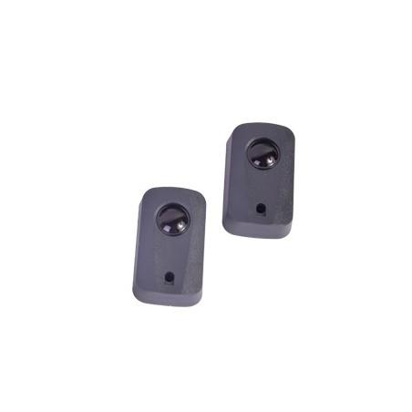 Fotocelda infrarroja (transmisor con receptor) / Alcance de hasta 10 metros Uso en barreras y motores de acceso vehicular