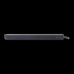 "PDU barra multicontactos Vertical con 14 salidas 125V/15A, contactos tipo NEMA Barra multicontactos para Rack de 19"""