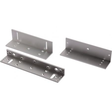 Kit de montajes Z y L para Cerradura Magnética Compatible con YM280 Soporte para Iman Chapa electromagnetica de 280Kg