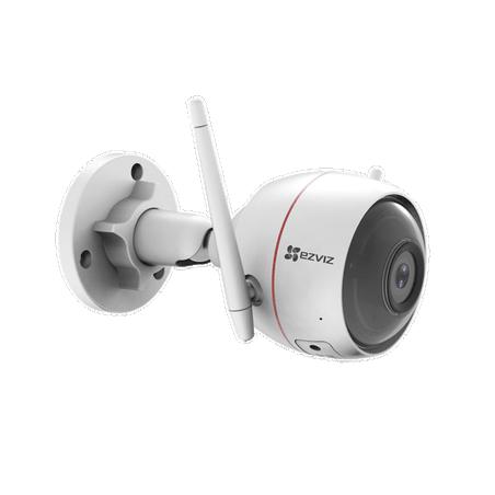 Bala IP 2 Megapíxel Wi-Fi Audio de Dos Vías Sirena (Alerta al Intruso) Luz Blanca Ranura para Memoria Uso en Exterior