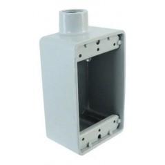 """Caja FS para tubo manguera de 1"""" Pulgada Caja Metálica para manguera plástica con metal de 1 pulgada liquid tigth"""