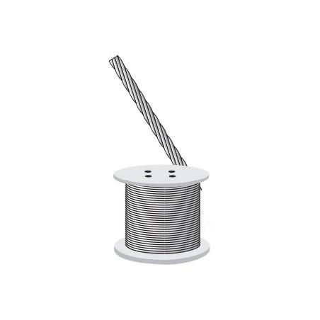 """Cable de Retenida 7 Hilos , Resistencia 600 kg, Diámetro 1/8"""" (Metro). Cable de acero para Torreo Arriostrada"""