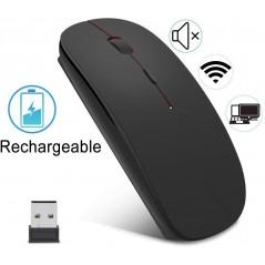 Mouse inalambrico recargable con cable micro usb incluido Mouse recargable Mouse Negro Mouse delgado Mouse comodo