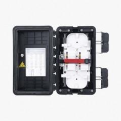 La caja de montaje de superficie Mini-Com™ es compatible con dos Módulos Mini-Com como máximo.