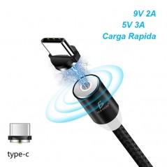 Cable Magnético Iman 3en1 Carga Rápida Usb tipo C Cable usb tipo C de iman Cable Cargador