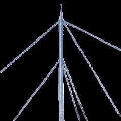 Kit de Torre Arriostrada de Piso de 9 m Altura con Tramo TZ35 Galvanizado Electrolítico (No incluye retenida).