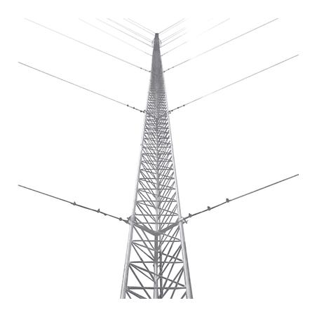 Kit de Torre Arriostrada de Piso de 15 m Altura con Tramo TZ30 Galvanizado Electrolítico (No incluye retenida).