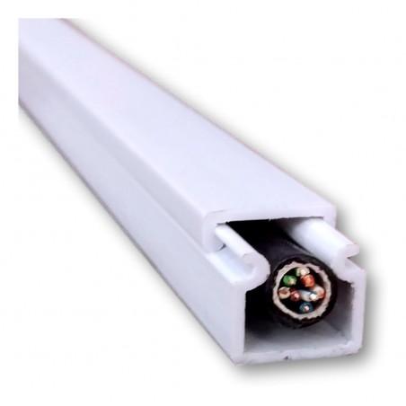 Canaleta de PVC Plástica 2 Metros Blanca Redes y Eléctrico 11x12mm Canaleta para 1 Cable Canaleta antiflama