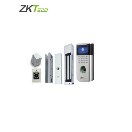 Kit Paquete de control de acceso con electroiman, iman para puerta, Boton y accesorios