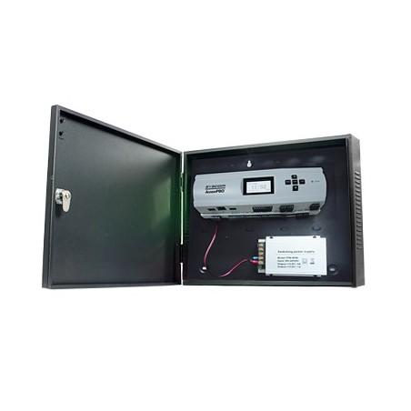 Controlador de Acceso para 2 Puertas Biometría Integrada 3,000 Huellas Incluye Gabinete y Fuente de Alimentación 12VCD/5A
