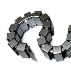 Espiral Agrupa Cables tipo Vertebra Vertical Protector de cables para escritorio Protector para Cables flexible Organizador