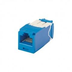Conector Jack RJ45 Estilo TG, Mini-Com, Categoría 6A, de 8 posiciones y 8 cables, Color Azul
