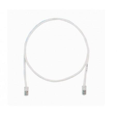 Cable de parcheo UTP Categoría 5e, con plug modular en cada extremo - 1 m. - Blanco mate Patch cord Blanco 1 metro