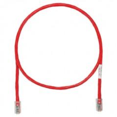 Cable de parcheo UTP Categoría 5e, con plug modular en cada extremo - 1 m. - Rojo Patch cord Rojo de 1 metro Netkey
