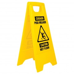 Letrero Piso Mojado Letrero piso mojado Letrero amarillo para piso humedo Letrero de advertencia piso mojado