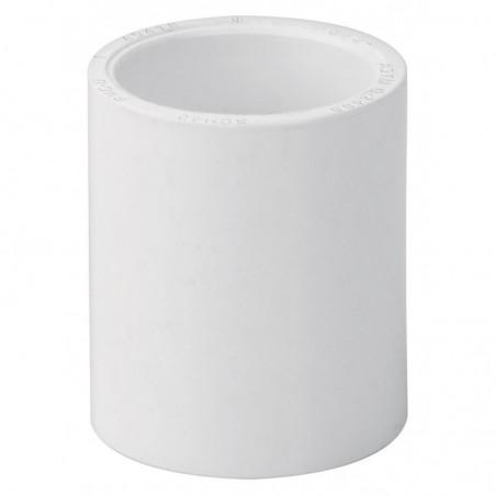 """(Venta por pieza) Cople para tubo de PVC Blanco Cople para tubo de Agua de 3/4"""" Cople Acoplador para tubo Cedula 40 Ced. 40"""