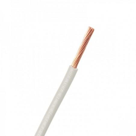 (Cable de Venta por Metro) Cable ARGOS Blanco Calibre 12 Cable no. 12 Cable 12 AWG 1 Polo Blanco ARGOS