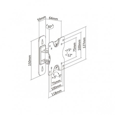 PANEL DE PISO para 4 placas 2x4 NetZys Caja de conexiones para escritorio caja de conexiones para piso