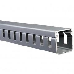 Canaleta Ranurada 80x80x2000mm Orgnizador Para Cable Organizador De Cable Vertical Canaleta De PVC Con Ranura Color GRIS