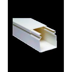 Canaleta 1619 Adhesiva Pvc 4 Cables 16mmx19mmx2m Canaleta para 6 Cables Canaleta con pegamento Canaleta blanca Canaleta de PVC