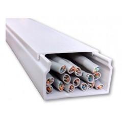 Canaleta Pvc 2 Metros 24x40mm Redes Eléctrico 2440 Canaleta para 12 Cables Canaleta de PVC para 10 Cables Canaleta Blanca