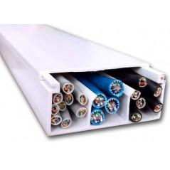 Canaleta 2661 Pvc 26x61mm X 2 Metros 3 Vías 15 Cables Canaleta para 15 Cables Canaleta para 12 cables Canaleta con division