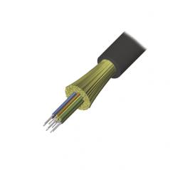 Cable de Fibra Óptica de 12 hilos, Interior/Exterior Dieléctrica LS0H Multimodo OM4 50/125 1 M