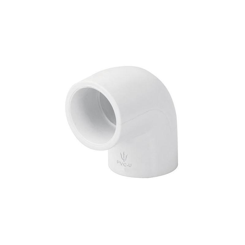 Conector de 90° Grados de PVC Blanco Conector de PVC de 90 Grados Cedula 40 Ced. 40