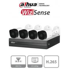 Kit de 4 Canales 5 Megapixeles Kit Dahua de 4 Camaras 5 Megapixel Camara Metalica Dahua DVR 8 Canales + Accesorios