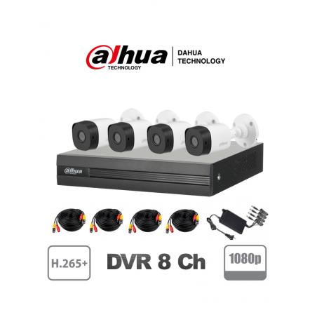 (1080p 2 mpx) Paquete Kit De 4 Camaras De Seguridad Paquete De Camaras De Seguridad Para Casa PLASTICAS, Camaras, Grabador (DVR)