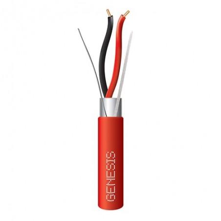 Bobina de Cable para incendio Rojo Blindado 2x18 AWG 305 Metros 1000ft tipo FTP Cable Calibre 18