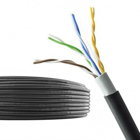Bobina de Cable UTP Doble Forro para Exterior Categoría 5e Cat.5e 300 Metros Bobina de Cable para exterior Con 1000ft